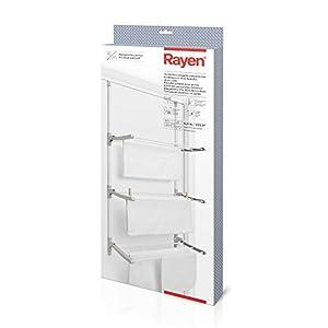Rayen, Tendedero Plegable para Puertas y Pared, Varillas XXL, 6,5 m de Superficie de Tendido, Multifuncional, Blanco y Gris, 124 x 62,5 x 5,5 cm