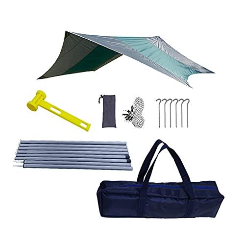 iBaste Tienda de campaña, resistente al agua, mosca de lluvia, lona para exterior, camping, protección solar, baldaquino y esterilla de picnic