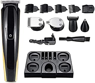 Mopoq Pro Hair Clipper Rechargeable Electric Washable Nose Beard Hair Trimmer Shaver 11 in 1 Hair Cutting Machine for Men