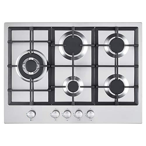 Cookology GH700SS 70cm 5 Burner Stainless Steel Gas Hob