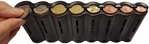 CLAIRE-FONCET Monedero con dispensador de monedas de 8 piezas de Euro, Monedero cintura, ideal para Camarero, Camarera, Taxis, Autobúses, vendedores en Parque de atracciones, de Producción Europea EU