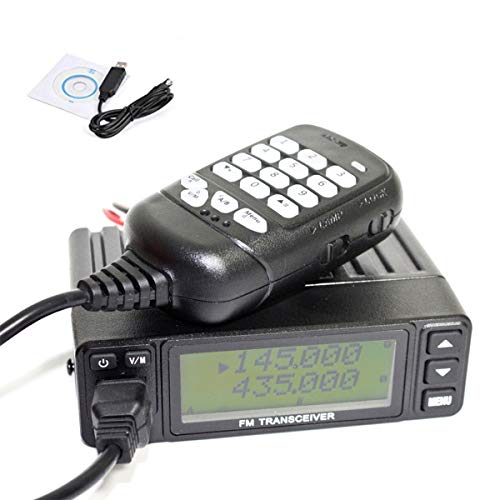 HYS Dual Band VHF/UHF 136-174/400-470MHz Mobile Transceiver 2 Way Radio with USB Programming Cable