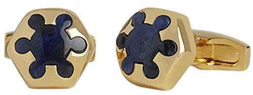 Simon Carter Gold/Blue Radial Sodalite boutons de manchette de