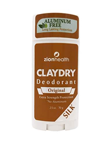 Zion Health Clay Dry Deodorant, Original Silk, 2.5 Oz