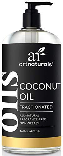 ArtNaturals Reines Flüssiges Fraktioniertes Kokosöl - (16 Fl Oz / 473 ml) - Coconut Oil - Massage- und Trägeröl - Zur Haut- & Haarpflege - Geruchlos