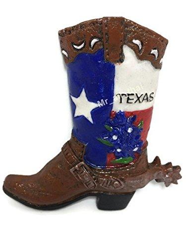 Texas Cowboy Boot Estados Unidos Souvenir resina 3d imán para nevera Souvenir Tourist regalo