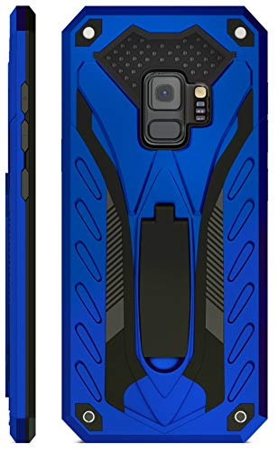 Kitoo Designed for Samsung Galaxy S9 Case with Kickstand, Military Grade 12ft. Drop Tested - Blue