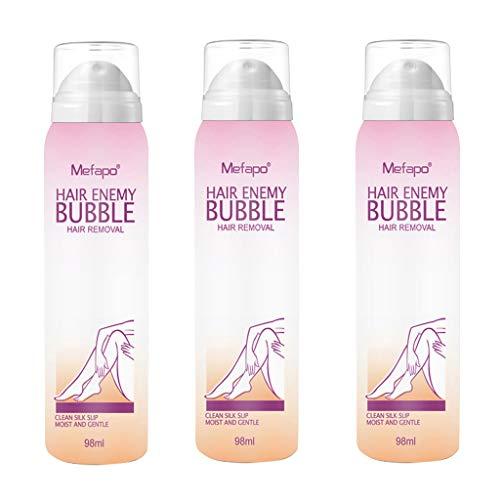 Haarentfernungscreme,About1988 Enthaarungscreme für Frauen und Männer,schmerzloses makelloses Enthaarungsmittel für die Haut auf Bikini,Gesicht, Unterarm,Arm,Brust,Rücken,Beine,130 ml (3PC)
