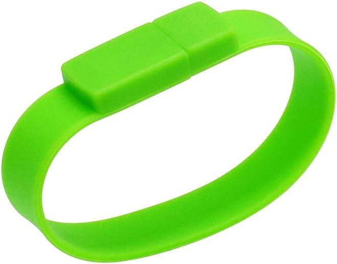USB Flash Drive 4GB Thumb Drive Pen Drives, Portable Bracelet Memory Stick 4 GB Green Jump Drive Bracelet Pen Drive, Bulk USB Drives Pendrive for Family Children Student by Civetman