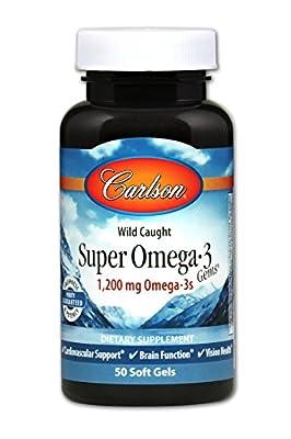 Carlson Super Omega-3 Gems, Norwegian, 1,200 mg Omega-3s, 50 Soft Gels (100 + 30 Soft Gels)