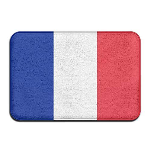 Alfombrilla de bienvenida con la bandera de Francia y Mónaco, para puerta delantera, baño, interior y exterior, alfombrilla para puerta de baño, alfombrilla para entrada exterior