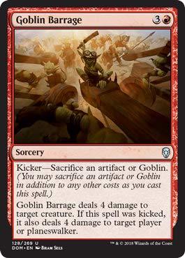 Magic The Gathering – Goblin Barrage – Sbarramento di Goblin – Dominaria