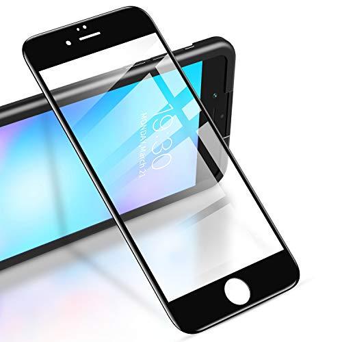 """RIWNNI [2 Stück Panzerglas für iPhone 6S/6 (4.7""""), 9H Härte Panzerglasfolie, HD Klar Displayschutz Glas Folie Full Screen Schutzfolie mit Positionierhilfe für iPhone 6S/6 - Schwarz"""