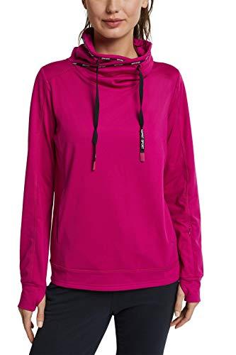 ESPRIT Sports Damen Sweatshirt Edry, 625/BERRY RED, XXL