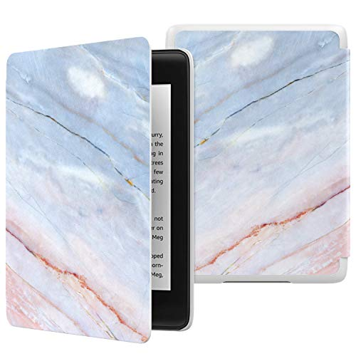 MoKo Case Fits Kindle Paperwhite (10th Generation, 2018 Release), Thinnest Lightest Smart Shell Cover with Auto Wake/Sleep for Amazon Kindle Paperwhite 2018 E-Reader - Marble