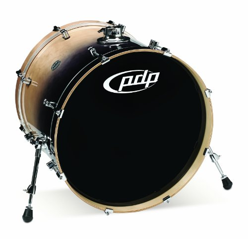 Pacific Drums PDCB1822KKNC 18 x 22 Inches Bass Drum with Chrome Hardware - Natural to Charcoal Fade