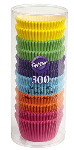 Wilton 415-2179 300 Count Rainbow Bright Standard Baking Cups