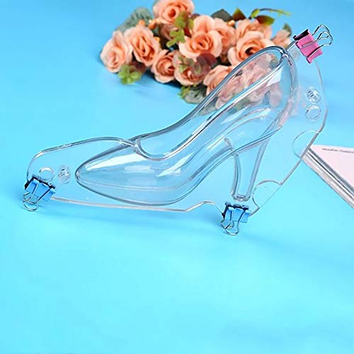 AOXING High Heel Shoe Chocolate Mold 3D Plastic Clear Candy Cake Decoration Molds DIY Home Baking Pastry Tools Lady Shoes Mold, Great for Birthday, Wedding, Princess Theme or Bridal Parties (L)