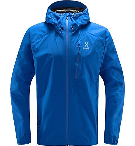 Haglöfs Regenjacke Herren Regenjacke L.I.M Jacket Wasserdicht, Winddicht, Atmungsaktiv Small Storm Blue M M
