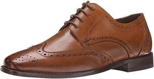 Florsheim Men's Montinaro Wingtip Dress Shoe Lace Up Oxford, Saddle Tan, 12 Medium
