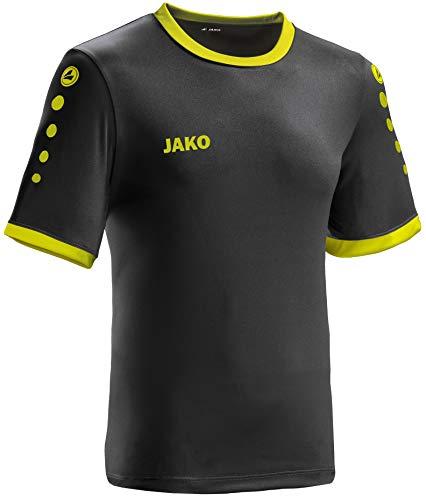 JAKO leichtes Team-Trikot schwarz-Lime Unisex für Kinder Größe 164 Casual oder Sport Shirt super Jungen und Mädchen