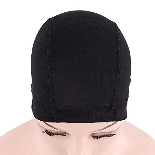 Capuchon de perruque 1 Pc Bon Spandex Mesh Dome Caps Noir Snood Nylon Strech Dôme Sans Colle Filets À Cheveux Avec Bande Élastique Pour Perruques