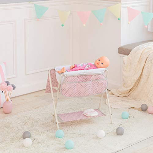 Baignoire Bain Table à Langer de poupée Poupon Rose Olivia's Little World OL-00008