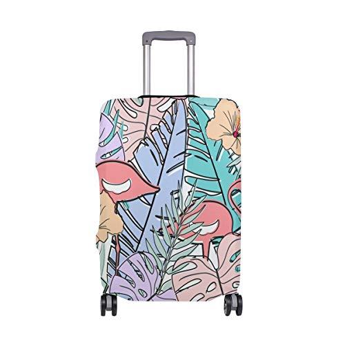Orediy Tropical Flamingo Birds Print - Funda elástica para Maleta de Viaje (sin maletín), tamaño S, M, L, XL, Multicolor (Multicolor) - suitcasecover