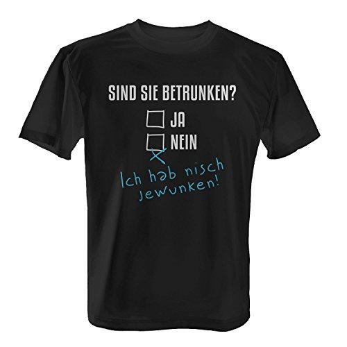 Fashionalarm Herren T-Shirt - Sind Sie betrunken | Fun Shirt mit lustigem Spruch zur Vatertag Herrentag Christi Himmelfahrt Party Alkoholtest Bier, Farbe:schwarz;Größe:XXL