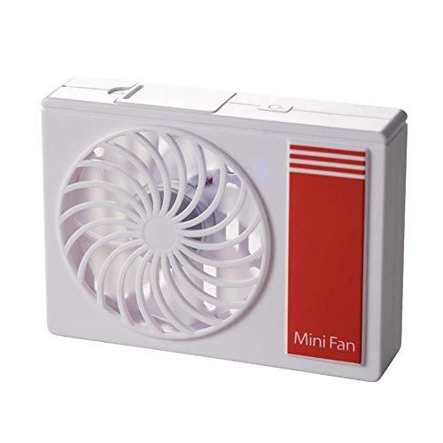 Ventilador de escritorio, ventilador pequeño de verano duradero Mini ventilador de enfriamiento de aire para exteriores Ventilador de mano portátil de escritorio para interiores conveniente (color:
