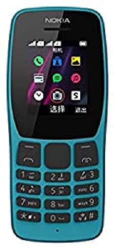 """Nokia 110 Telefono Cellulare Dual Sim, Display 1.77"""" a Colori, Fotocamera, Blue [Italia]"""
