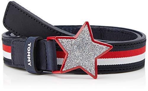 Tommy Hilfiger Girls Star Belt 2.5 Cintura, Blu (Corporate 901), Large (Taglia Produttore: L-XL) Bambina