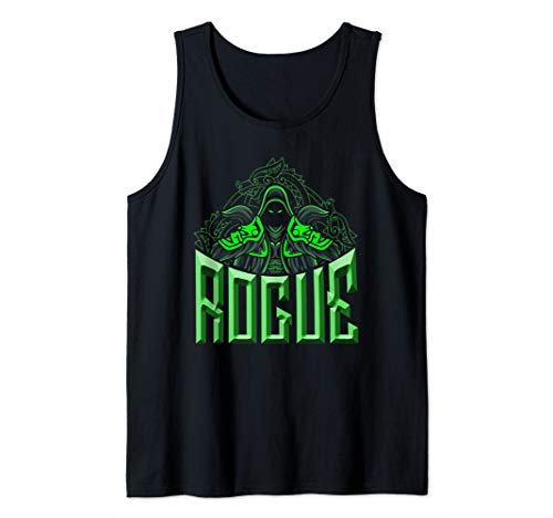 Elven Rogue Assassin Fantasy Class Graphic Shirts for Gamers Tank Top