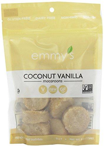 Emmy's Organics Coconut Cookies, Vanilla Bean, 6 oz (Pack of 4)