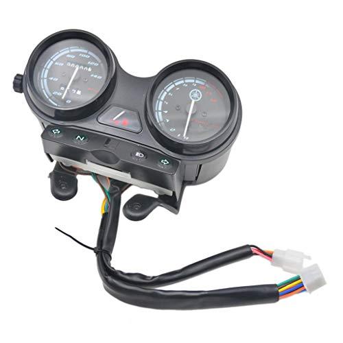 B Blesiya Velocímetro de 12 V, Tacómetro, Relojes Completos en Km/H para Yamaha YBR125