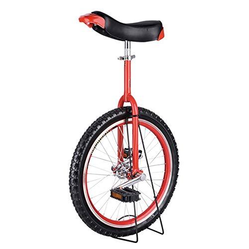 SSZY Einrad Erwachsene 24-Zoll-Rad Einräder mit Alufelge & Ständer, Anfänger/Große Kinder/Weibliche/Männliche Jugendliche Outdoor Balance Radfahren Einrad (Color : Red)