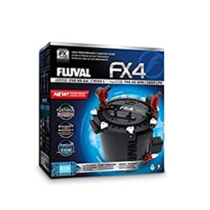 Fluval FX4 External Canister Filter with 2 Free Fluval Treatments 320ml bottle of Fluval Cycle Biological En...