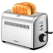 2-Slice Toaster, Tdbest with 7 Toast Shade Level Settings, Stainless Steel Toaster for Home and Breakfast