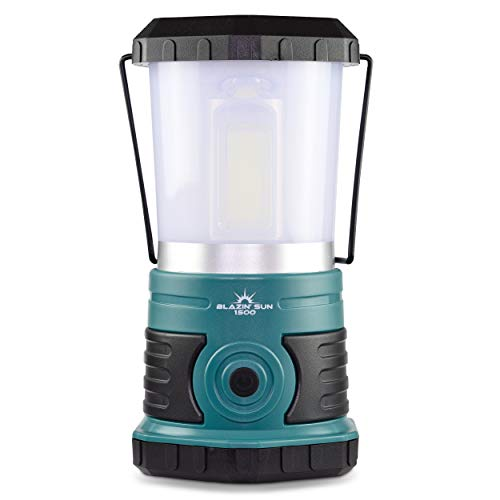 Blazin' Sun 1500 Lumen | Led Lanterns Battery Operated | Hurricane, Emergency, Storm, Power Outage Light | 200 Hour Runtime (Teal)