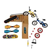 shentaotao Patinetas Dedo Juguetes Set Parque del patín Kit Mini Scooter de Bicicletas monopatín Lugar Set para niños Manos de Formación 1 Pack