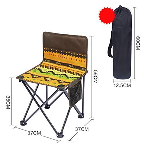 ABDOMINAL WHEEL Silla de Camping Plegable con Respald,con Bolsa de Transporte Ligera y Sólida para Camping, Senderismo, Caza, Pesca y Viaje - Portable Style