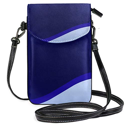 XCNGG Telefontasche Banner Design Blue Glowing Cell Phone Purse Wallet for Women Girl Small Crossbody Purse Bags