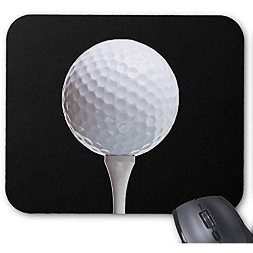 Gjid muismat golfbal en thee op de muismat, personaliseerbaar zwart