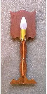 LAMPADA da Parete Design APPLIQUE in Ferro colore ruggine con filo arancione 701