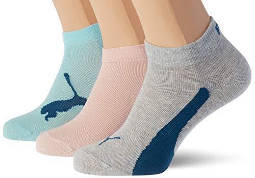 PUMA unisex-child Kids' Bwt Quarter (3 Pack) Socks, pink/blue, 39/42 (3er Pack)