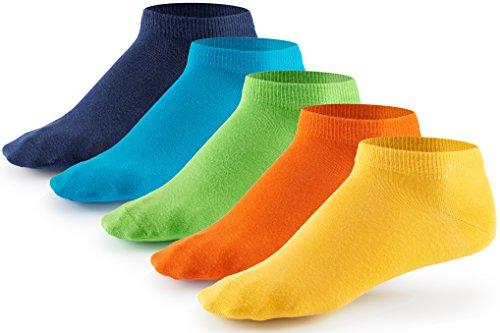 Mat & Vic's Sneaker Socken, 10 Paar, Cotton classic, Oeko-Tex Standard 100, Trendy Colors, 47-50