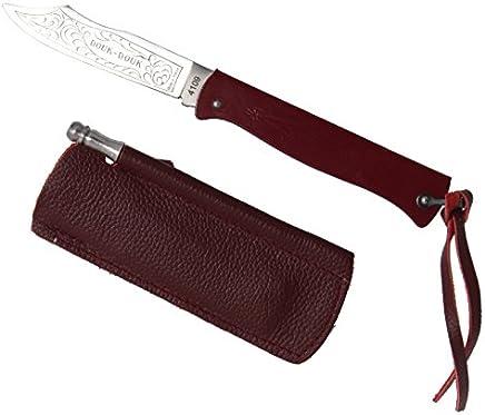 MCC Cognet Douk Douk - - - Taschenmesser Design, 11cm Roter Griff, Karbonstahl-Klinge, Etui B06X9GJ5T9 | Perfekt In Verarbeitung  d58482
