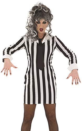 Fancy Me Damen Sexy Schwarz Weiß Beetlejuice Halloween Film Kostüm Kleid Outfit 8-22 Übergröße - Schwarz/weiß, 20-22