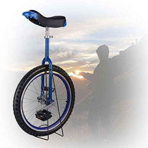 GAOYUY Kinder-Einrad, 16/18/20/24 Zoll Rahmen rutschfeste Butyl Mountain Reifen Balance Radsportübung Radsport Im Freien Einfach Zu Montieren (Color : Blue, Size : 20 inch)