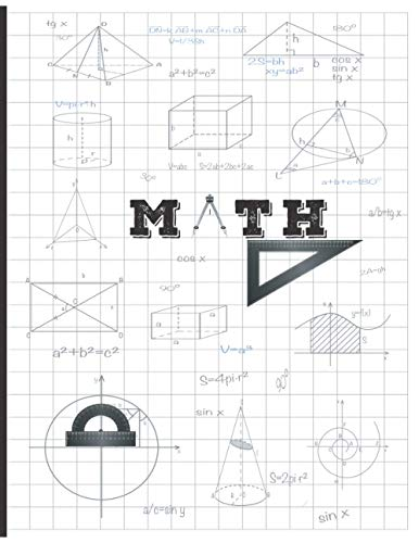MATH: Graph Paper Composition Notebook for Students Teacher , Grid paper with 1 cm squares1 Ruled Math Design, 120 Pages of 8.5 x 11 Inches